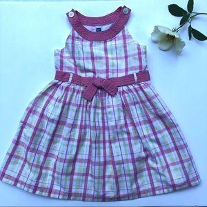 Baby Gap toddler girl Plaid Dress - 18-24M